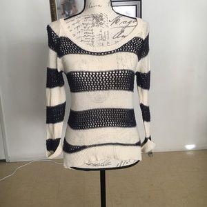 Roxy Blue/Cream Knitted Sweater Size Medium